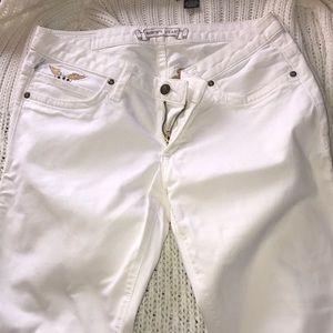Straight Leg Pure White Jeans
